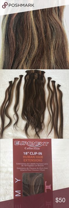 Euronext hair extensions amber conditioning and brown 18 clip in human hair extensions pmusecretfo Choice Image