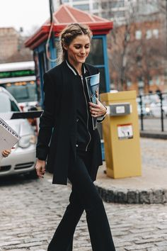 NYFW-New_York_Fashion_Week-Fall_Winter-16-Street_Style-olivia_Palermo-Braids-Black_Outfit-4