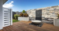 OUTDOOR LIVING / ALFRESCO - Symphony Executive with Aspire Facade on Display at Emerald Hills, Leppington Custom Home Designs, Custom Homes, New Home Builders, Outdoor Living, Outdoor Decor, Investment Property, Facade, Emerald, New Homes