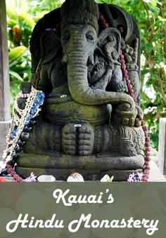 Kauai has a Hindu Monastery and it is open to visitors for tours. #Kauai #Hawaii #travel