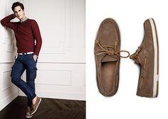 H.E. by MANGO Suede deck shoes