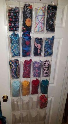 Lularoe legging storage/organization, ways to organize leggings, how to store leggings