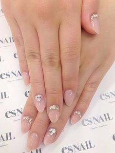 I love everything about these nails! The length, shape, bling, and color!