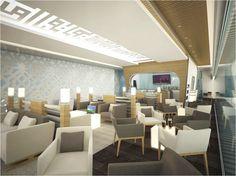 Futuristic Luxury VIP Lounge at King Khaled International Airport Airport Lounge, Lounges, International Airport, Contemporary Furniture, Futuristic, Vip, Public, Rest, Interior Design
