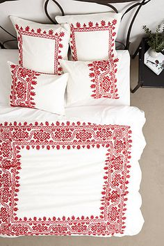 Aari Embroidered Duvet #anthroregistry
