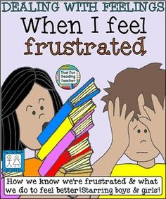 When I feel #frustrated Boy/Girl #Bundle Children's stories about recognizing, expressing and managing frustration. Includes a color and black & white version. #printable $ #DWF
