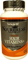 Product Description NouriTress Perfect Hair Vitamins+ FOR MEN was designed to prevent hair loss and hair thinning in men whose follicles are still producing hair. Specially formulated with the herb Saw Palmetto (an herb that has been shown to be an effective anti-androgen), NouriTress Hair Vitamins+ for men blocks the DHT Dihydrotestosterone a male hormone that is suggested to be the main cause for hair thinning and hair loss.