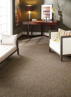 June Moon Furniture Store - Intuition, $2.96 sq ft Commercial Carpet tile. So easy to install
