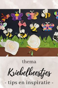 Thema kriebelbeestjes: wat kriebelt daar? | Klas van juf Linda Preschool, Flag, Creatures, Cards, Inspiration, Insects, Biblical Inspiration, Science, Maps