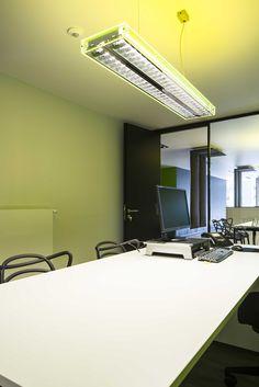 SELEXIS / ICE / interiordesign / lighting #DARK #Buroproject #concept office at GEEL BE [www.selexis.be]