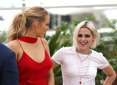 Kristen Stewart and Blake Lively in Cannes - Café Society Photocall
