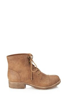 Textured Faux Leather Hiking Boots | Forever 21 - 2000104379