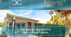 Another home FOR SALE in Sarasota! 🏡 CLICK the link below for INSTANT access to all Photos, Details & More! Looking to make your next move? Give me a call today at Realtor Florida, Sarasota Real Estate, Instant Access, Lead Generation, Virtual Tour, Real Estate Marketing, Open House, Community, Tours