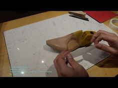 Cowboy boot making. Patterns, part 1. Taping the last and cutting the Mean Forme. - YouTube