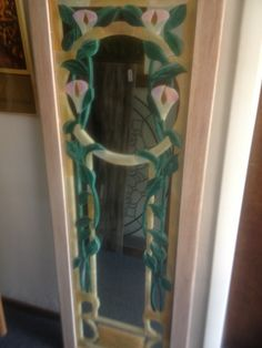 Stained glass on mirror in my home
