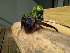 Wooden clubmaster Polarised Sunglasses by HighballCollection