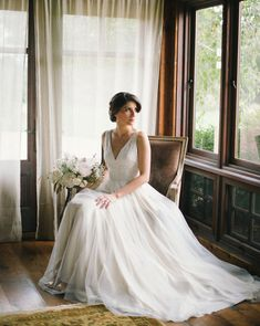 Tamsin Gown from BHLDN | via: green wedding shoes