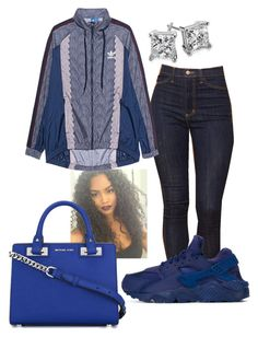 """""""#400"""" by o0dejah0o on Polyvore featuring NIKE, adidas Originals, MICHAEL Michael Kors and Blue Nile"""