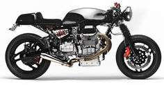 This classic-looking Guzzi cafe racer, however, is based on a 1996 V1100 Daytona—an altogether more powerful bike, with 102 bhp from its 1064cc motor. It's the latest build from Alain Bernard of Santiago Chopper, and Bernard has nicknamed the machine