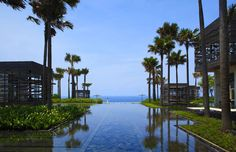 Welcoming gardens at Alila Villas Uluwatu in Bali. http://www.alilahotels.com/uluwatu