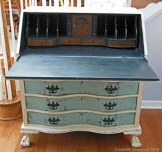 Vintage Claw Foot Drop Front Secretary Desk « Uniquely Yours… Oh I want to find a desk like this. It is beautiful.