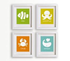 Baby's First Art Print - Fish 8x10 - Baby's Nursery, Children Decor, Nursery Decor, Coastal, Nursery Wall Art, Playroom Decor. $14.95, via Etsy.