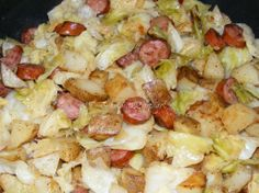 Sausage Cabbage & Potato Skillet  ----  my potful of yummy is shown