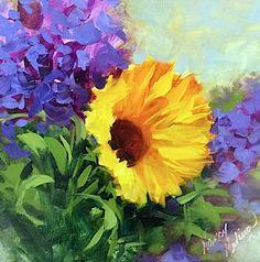 Nany Medina colorfull painting. #Nancy_Medina, #oil_painting, #Sunflowers