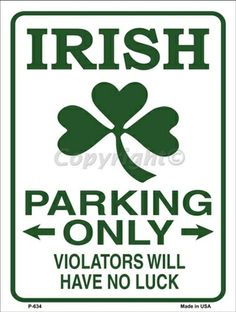Irish Humor ... ((US $23.85 New in Collectibles, Holiday & Seasonal, St. Patrick's Day))
