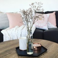 Kmart Styling Lounge room, love the centre piece, something in vase that doesnt have to be kept alive
