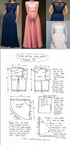 Amazing Sewing Patterns Clone Your Clothes Ideas. Enchanting Sewing Patterns Clone Your Clothes Ideas. Diy Clothing, Sewing Clothes, Clothing Patterns, Evening Dress Patterns, Evening Dresses, Diy Dress, Dress Outfits, Costura Fashion, Gown Pattern