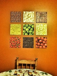 DIY Kitchen Wall Art   Dollar Tree foam board  scrapbook paper   modge  podge DIY Framed Recipe Cards   Hand writing  Decorative boxes and Kitchens. Diy Kitchen Wall Decor. Home Design Ideas