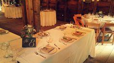 Wedding guests really appreciate a beautiful table! #mountgulian #weddings #hudsonvalleyweddings #hudsonvalleybrides #barnwedding #tablelayout