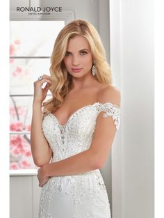 508559ae28cd RONALD JOYCE Ronald Joyce 69301 NICOLETTE Stunning Lace And Crepe Wedding  Dress Ivory/silver