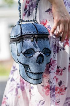 Skull Bag - Skull Handbag - Skull Purse Clutch - Calaveras bag