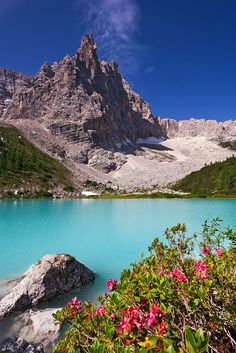 Lake Sorapiss, Dolomites, province of Belluno , Veneto region Italy