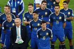 Argentina at 2014 FIFA World Cup Brazil Final match between Germany and Argentina at Maracana on July 13, 2014 in Rio de Janeiro, Brazil.