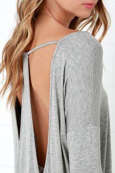 Drop It Low Beige Long Sleeve Top at Lulus.com!