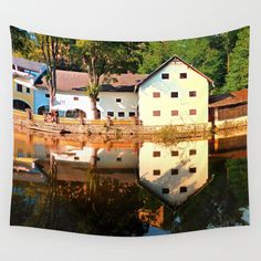 River reflections at the mill Wall Art Prints, Canvas Prints, Milling, Metal Wall Art, Wall Tapestry, Reflection, Landscape, House Styles, Photography