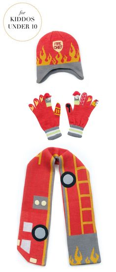 Gifts For Kids Under 10 | Kidorable™ Fireman Cold Weather Accessories | Very Merry Gift Guide