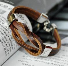 Hemp Leather Men Bracelet