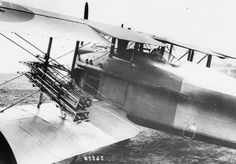 FRENCH AIRCRAFT FIRST WORLD WAR (Q 67932)   SPAD S.VIII single seat fighter biplane. Fitted with rocket containers.
