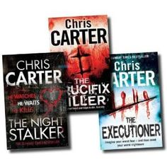 Chris Carter... I love me some crime thrillers from time to time ! reading anything by a former criminal psychologist turned rockstar now a writer & author Chris Carter  ,his writing style & plots are always engaging ..I like a fast paced page turner that keeps my eyes glued ,in suspense & on the edge of my seat right to the end..and I must admit even though it's only words..it has made me jump at times!