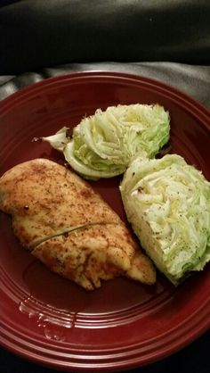 Baked chicken and cabbage