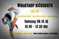 Stressabbau  + Energieschub = Workshop im Kickboxen für Beginner ! Kein Körperkontakt, keine blauen Flecken, keine Ausreden - MITMACHEN!