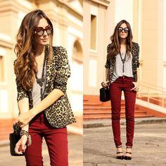 Cinza mescla + onça + vermelho
