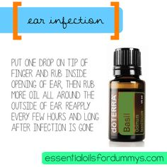 essential oils for dummys: Eliminate ear infections without having to go to the doctor!
