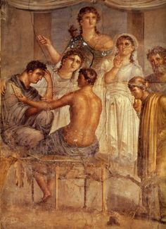 *POMPEII, ITALY ~ House of the Tragic Poet - 'Admetus Listening to the Reading of the Oracle'