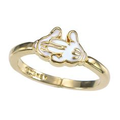 """Mickey Mouse Gloves """"My Treasure"""" Ring"""