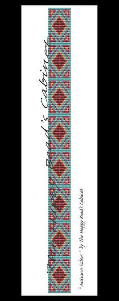Beaded hat band head band loom peyote by TheHappyBeadsCabinet Bead Loom Patterns, Peyote Patterns, Bracelet Patterns, Beading Patterns, Bracelet Designs, Cowboy Crafts, Beaded Hat Bands, Bead Loom Bracelets, Native American Beading